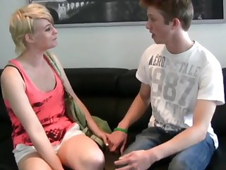 lucky guy enjoying roommate bitch and his new girlfriend