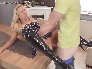 crazy milf with big nipples loves anal sex with her boss