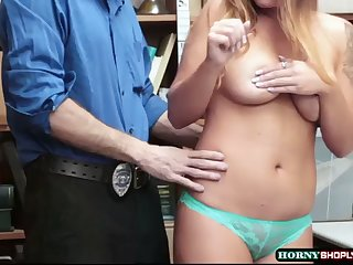 busty dakota rain gets her tight pussy penetrated by officers huge dick