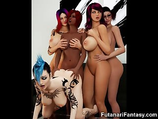 3d futa chicas with big cocks!