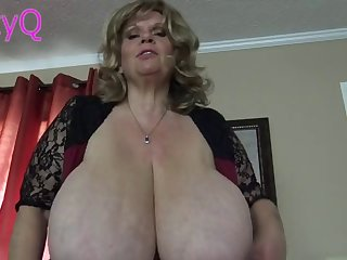 grandma is swinging her huge tits